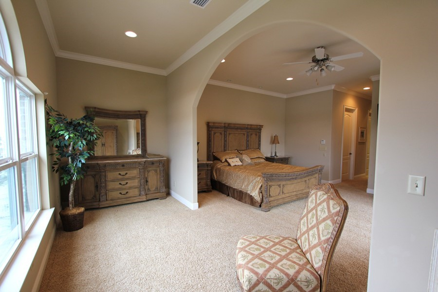 Master bedroom suite with sitting room master bedroom