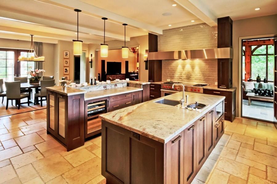 double island kitchen floor plans tuxedo park luxury